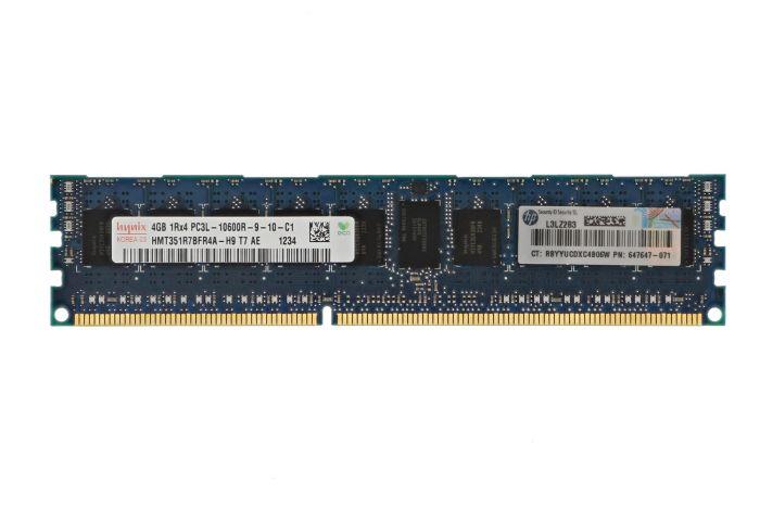 HP 4GB PC3L-10600R 1Rx4 647647-071 Ref