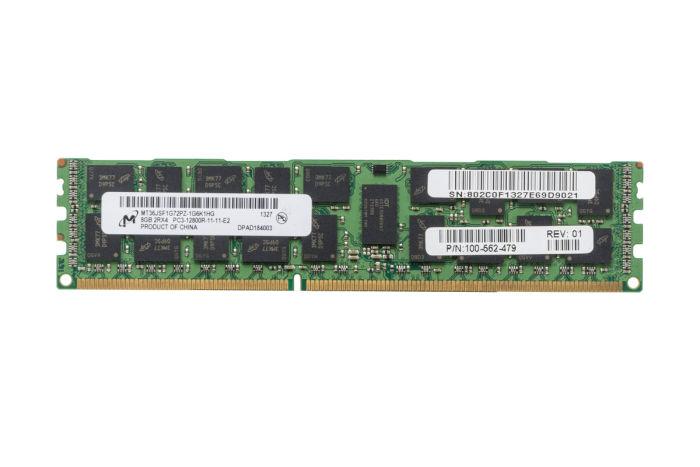 Micron 8GB PC3-12800R 2Rx4 ECC MT36JSF1G72PZ-1G6K1HG Ref