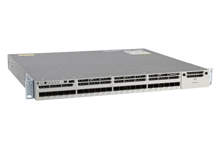 Cisco Catalyst WS-C3850-24S-S Switch IP Services License, Port-Side Air Intake