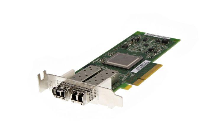 Dell QLogic QLE2562-DEL 8Gb SFP+ Dual Port Low Profile Fibre HBA - MFP5T - New