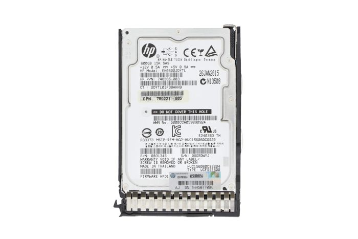 """HP 600GB 15k SAS 2.5"""" 12Gbps Hard Drive - 759548-001 For Gen8 and Gen9"""