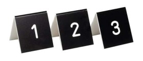 Pöytänumerot 1-50 musta/valkoinen
