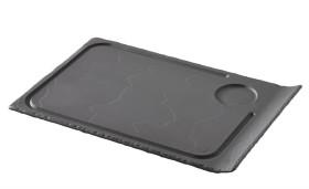 Pihvilautanen musta 33x22x1,5 cm