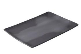 Lautanen suorakaide musta 32x23 cm