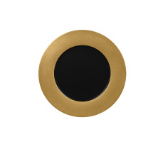 Lautanen musta/kulta Ø 27 cm