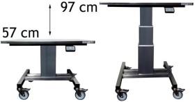 Lainanostopöytä rst 800x650x570-970mm Limbo