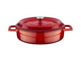 Valurautapata punainen Ø 32 cm 5,66 L