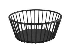 Leipäkori metalli musta Ø 20 cm