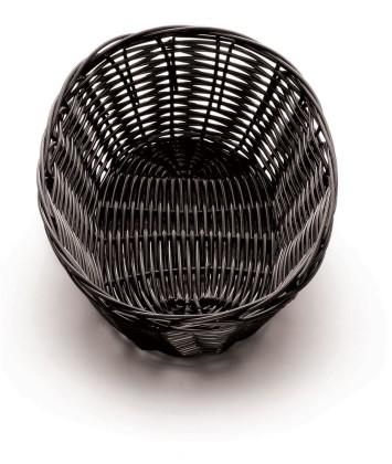 Leipäkori soikea musta 21x14 cm