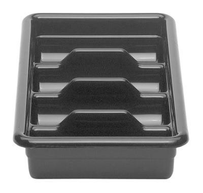 Säilytyslaatikko 4-os. harmaa 28,9x52x9,5 cm