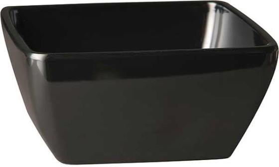 Neliökulho melamiini musta 9x9 cm 14 cl