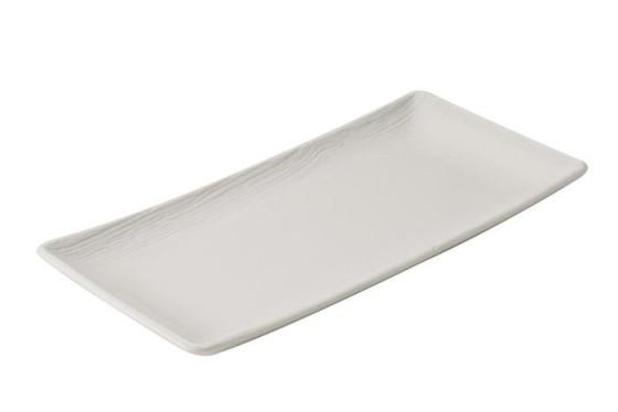 Lautanen suorakaide valkoinen 30x15 cm
