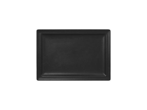Lautanen suorakaide musta 33x23 cm
