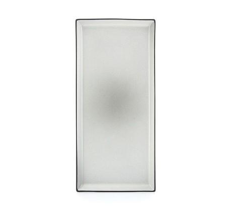 Lautanen suorakaide harmaa 32x15 cm