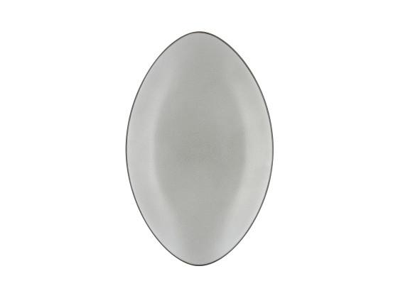 Lautanen soikea harmaa P 35 cm