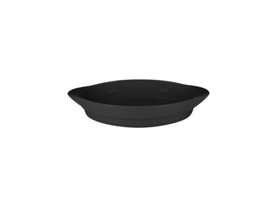 Pata soikea musta 31x21x6 cm