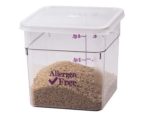 Säilytysastia kulmikas Allergen-Free 1,9 L
