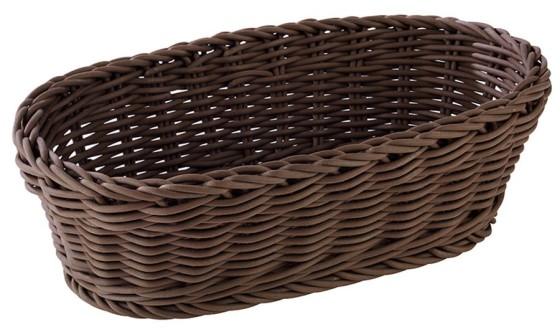 Leipäkori soikea ruskea 28x16 cm