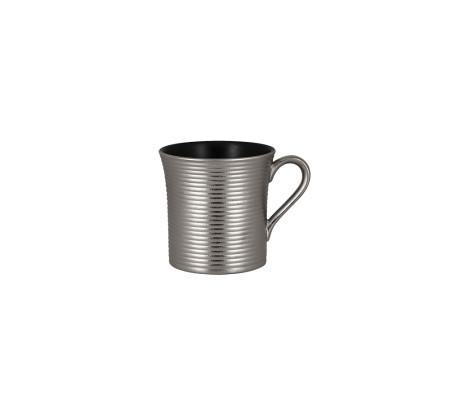 Kahvikuppi musta/hopea 20 cl