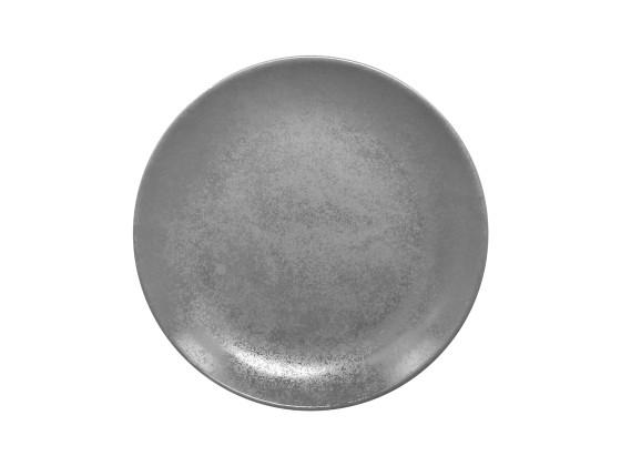 Lautanen reunaton harmaa Ø 18 cm