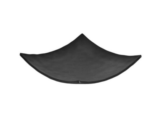 Neliölautanen melamiini musta 22,5x22,5x5,1 cm