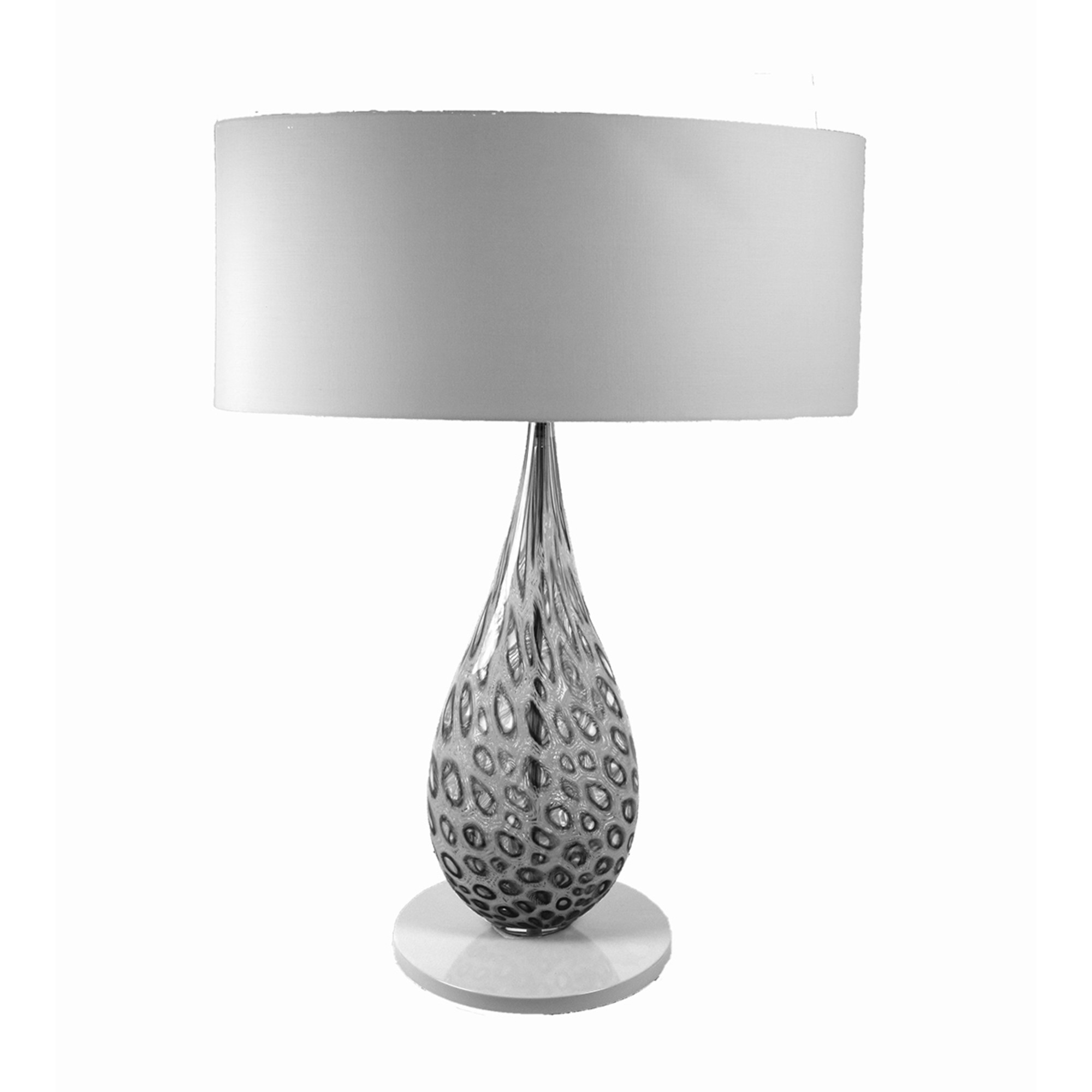 Spotted Drop Murano Glass Table Lamp