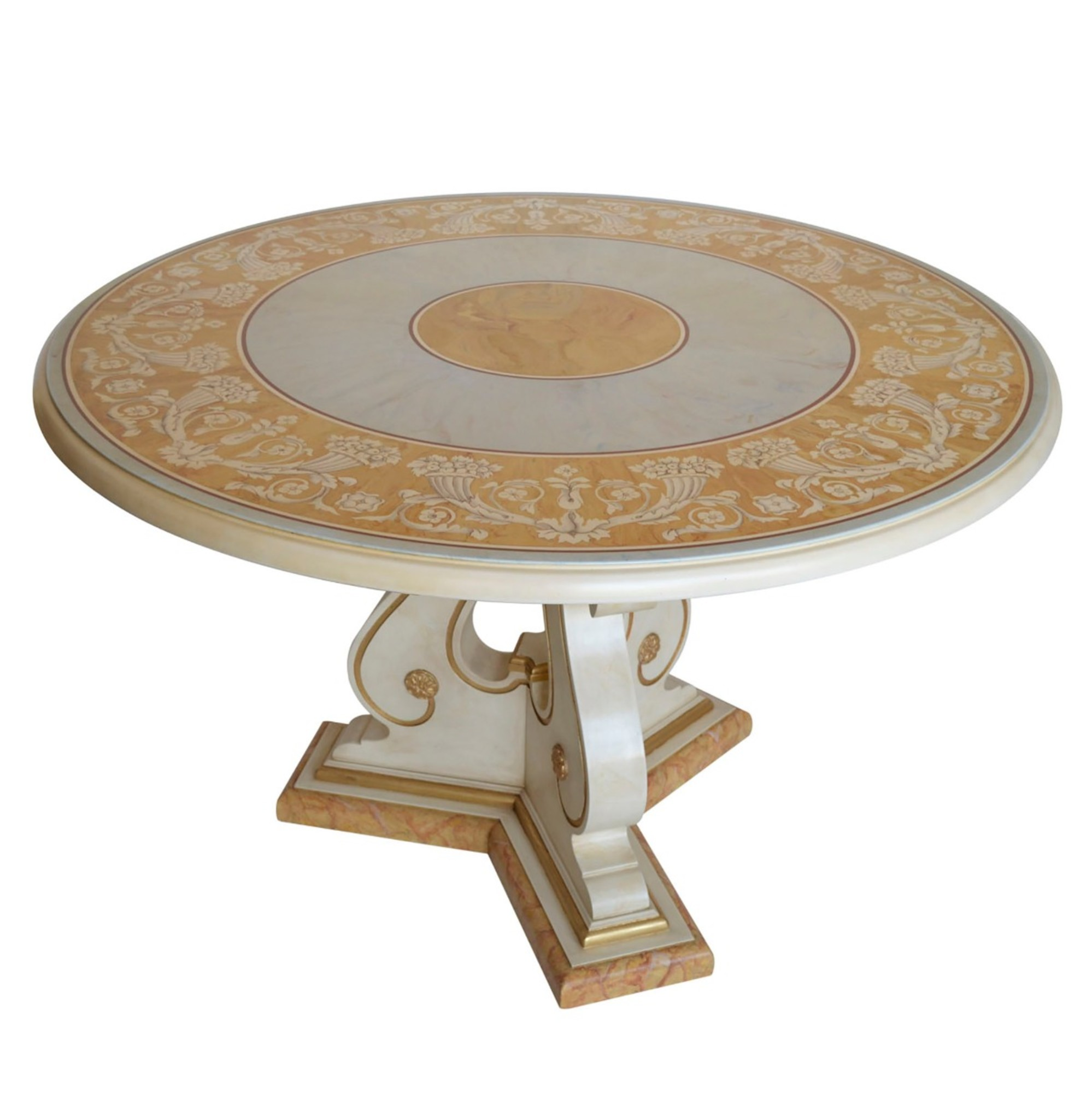 Verbena Round Marble Dining Table