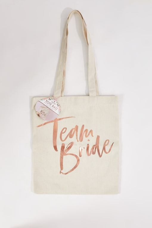 GINGER RAY ROSE GOLD PRINTED TEAM BRIDE TOTE BAG