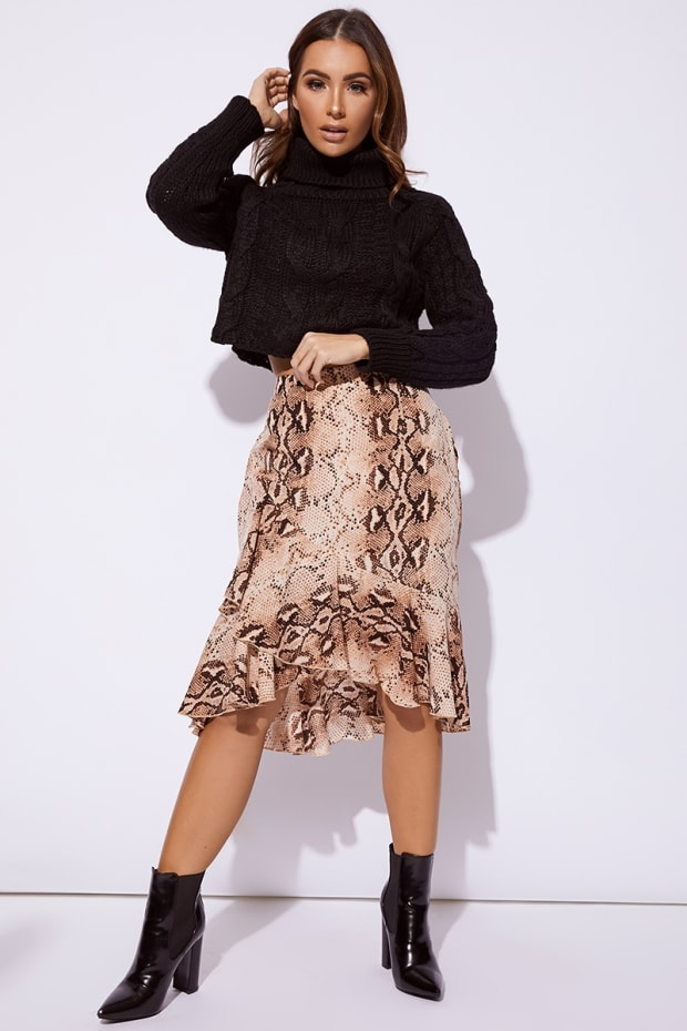 4cb849a21f8 billie-faiers-nude-snake-print-wrap-midi-skirt by