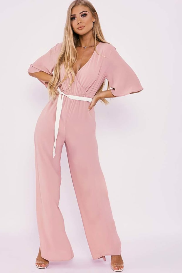 af9cd6eb383 BILLIE FAIERS NUDE WRAP FRONT PALAZZO JUMPSUIT. Previous