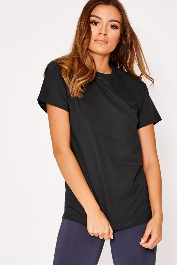 BASIC BLACK OVERSIZED T SHIRT