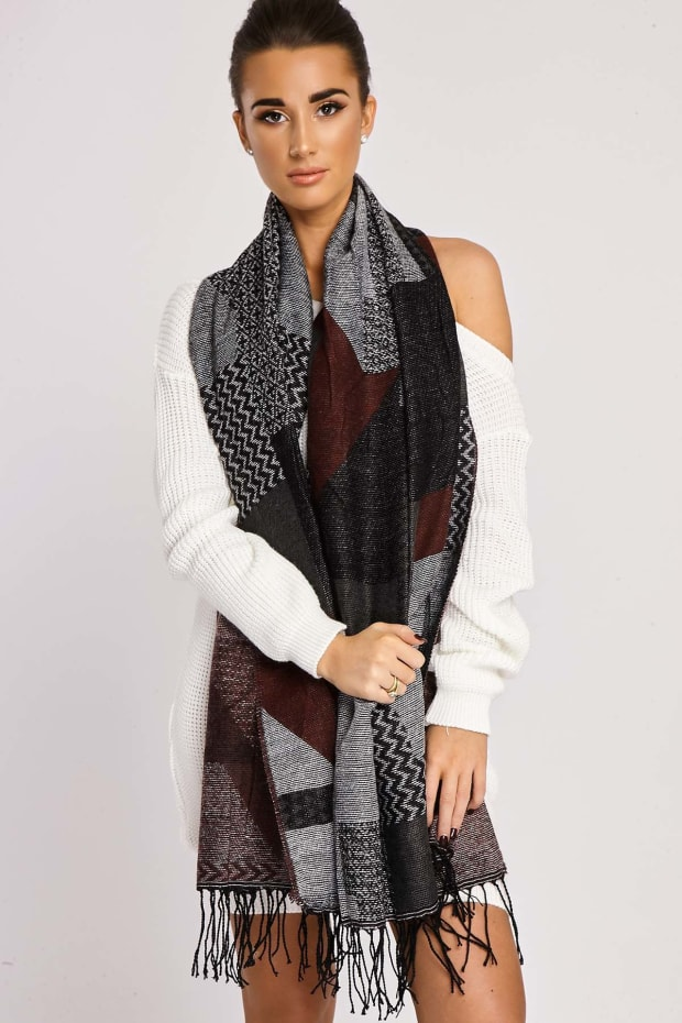 JANELLE MULTI PATTERNED SCARF