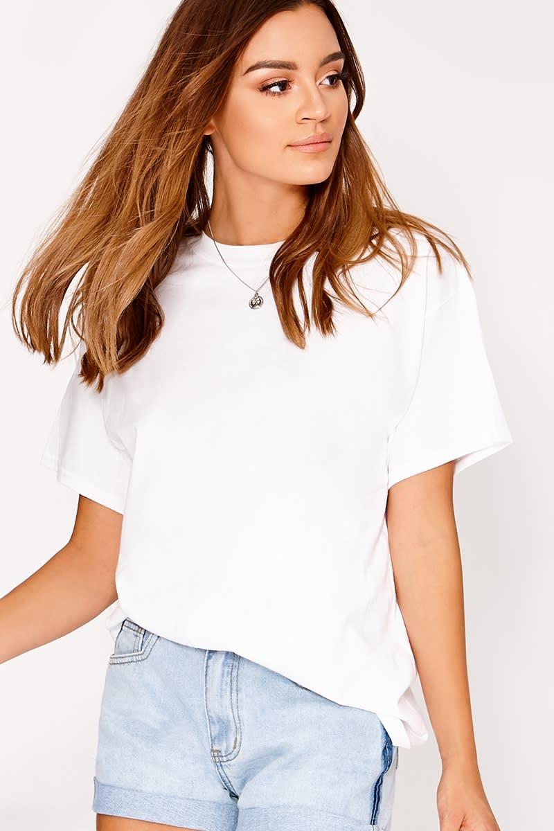 42b286eb22d4b0 Basic White Oversized T Shirt