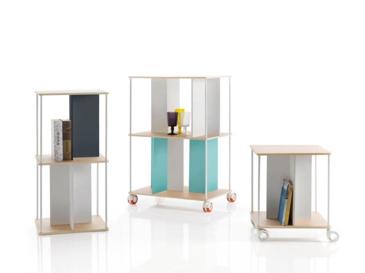 Domino: Modular shelving unit in different heights
