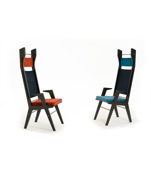 Colette: Lounge chair with upholstered seat