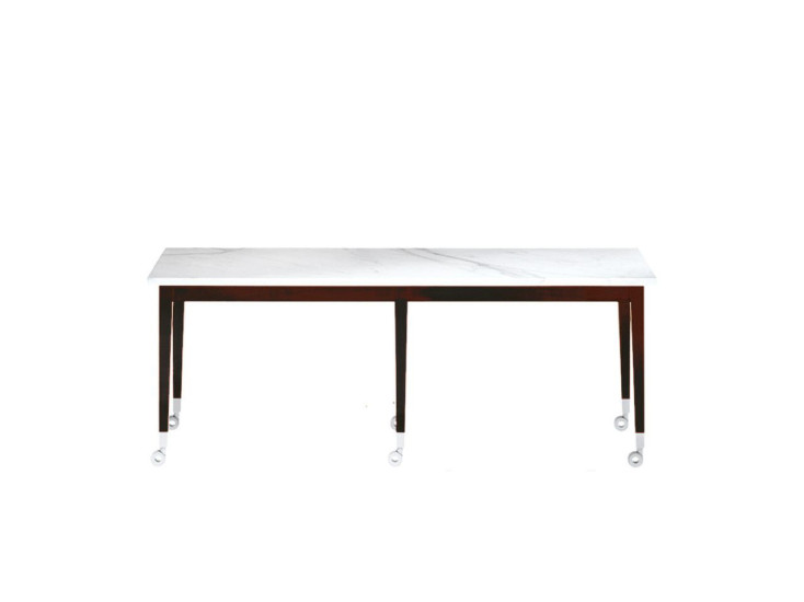 Neoz: Coffee table L 130 cm W 40 cm H 50 cm on casters