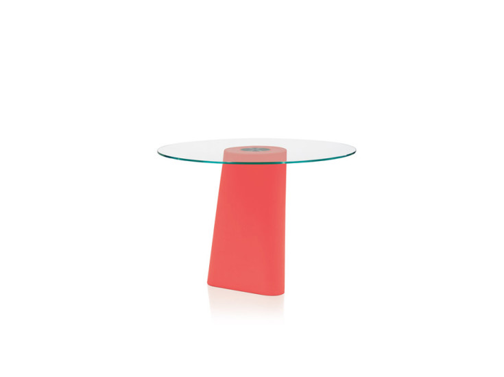 Adam: Table with glass top Ø80-100 cm H 72 cm