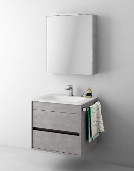 Duetto 02: Monoblock W 64 cm D 51 cm with 2 drawers
