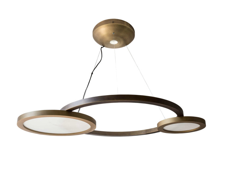 Eclisse SO: Suspension lamp in different finishings