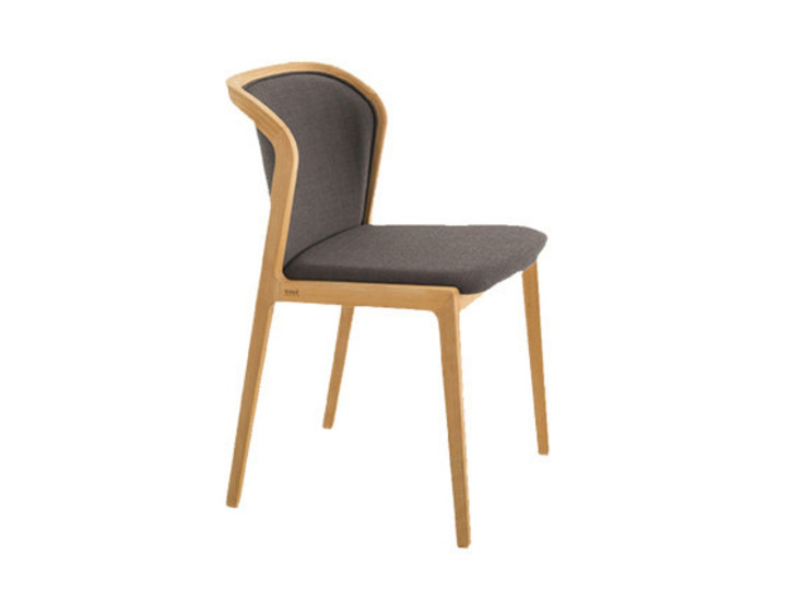 Vienna Soft: Chair in natural beech with upholstered seat
