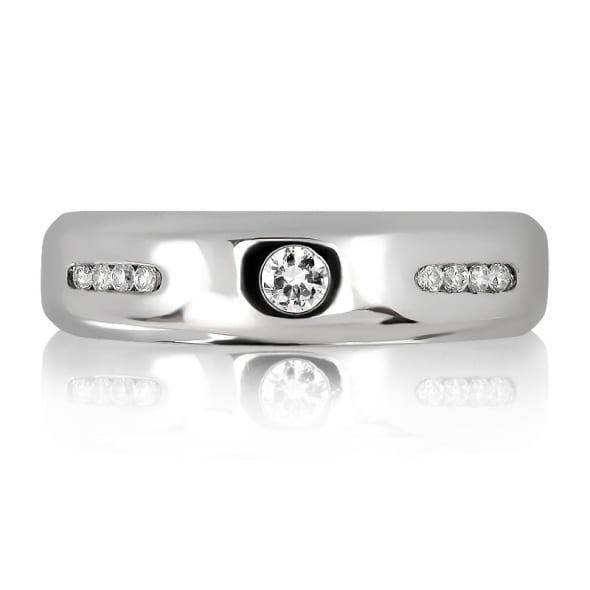 แหวนเพชรหมั้นหญิง ทอง 18K ประดับเพชร น้ำหนักรวม 0.27 กะรัต ค่าสี F ค่าความสะอาด VS