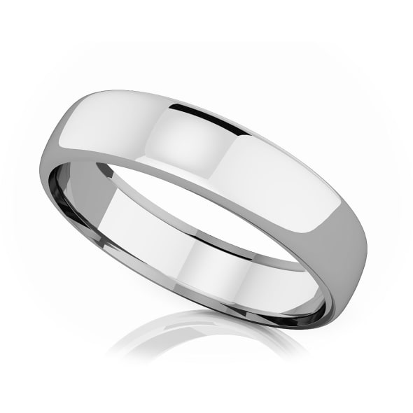 แหวนPlatinum - 5.50 mm Domed shape romantic classic band