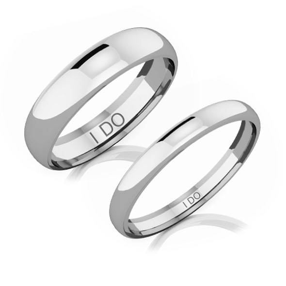 Comfort Fit Classic 18K Gold Couple Wedding Band
