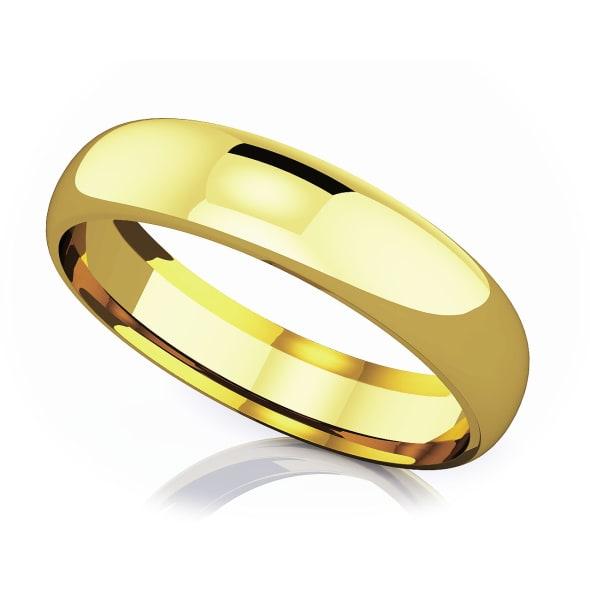 แหวนทอง - 18K 5 mm Comfort fit classic