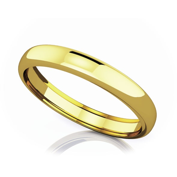 แหวนทอง - 18K 3.50 mm Domed shape romantic classic band
