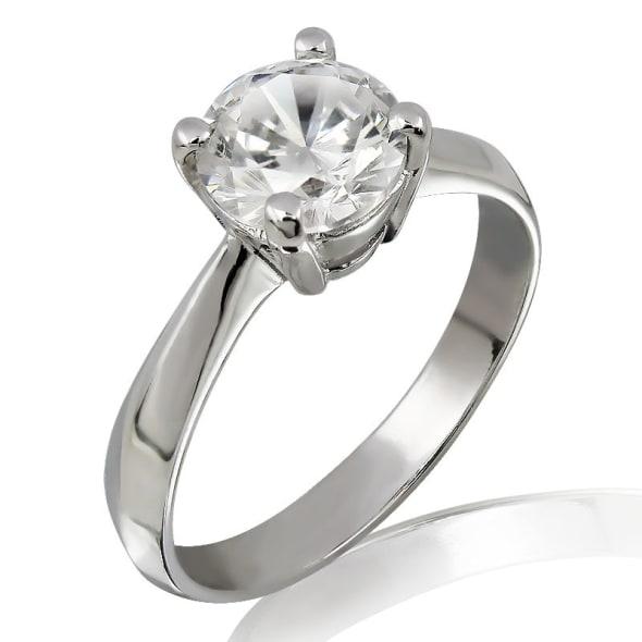 แหวนทอง 18K ประดับเพชร น้ำหนักรวม 0.30 กะรัต ค่าสี D (น้ำ 100) ค่าความสะอาด VS2 EX/EX/EX เพชรมาพร้อมใบรับรองจากสถาบัน GIA