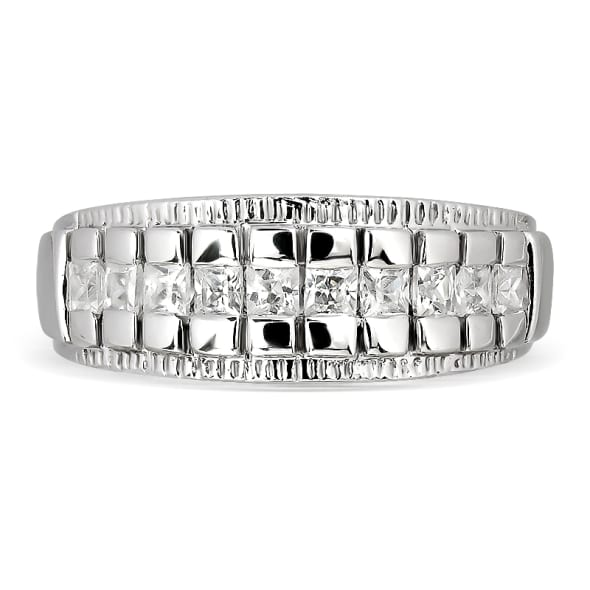 แหวนทอง 18K ประดับเพชร น้ำหนักรวม 0.40 กะรัต ค่าสี E ค่าความสะอาด VS