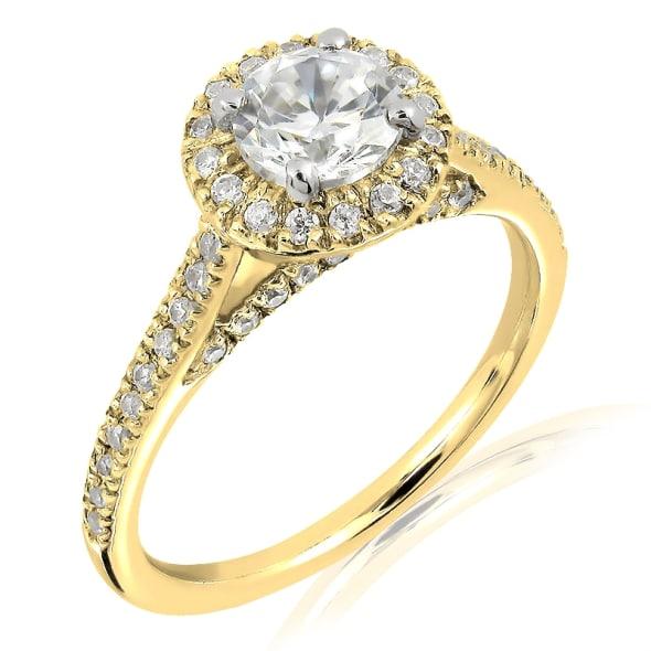 แหวนทอง 18K ประดับเพชร น้ำหนักรวม 1.00 กะรัต ค่าสี D ค่าความสะอาด VVS2 EX/EX/EX เพชรมาพร้อมใบร้บรองจากสถาบัน IGL