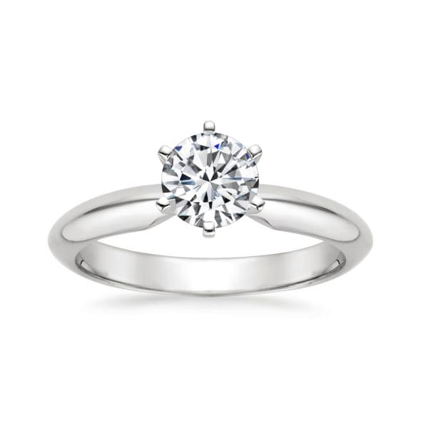 แหวนทอง 18K ประดับเพชร น้ำหนักรวม 1.00 กะรัต ค่าสี D ค่าความสะอาด VS1 EX/EX/EX None  เพชรมาพร้อมใบรับรองจาก GIA