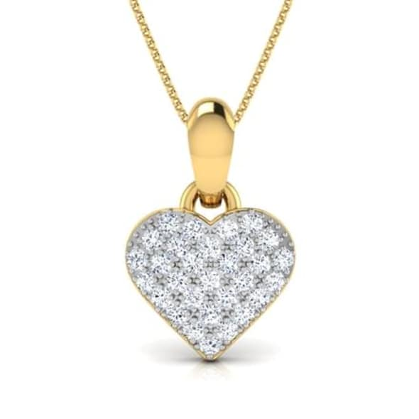 18K Gold and 0.09 carat Diamond Pendant